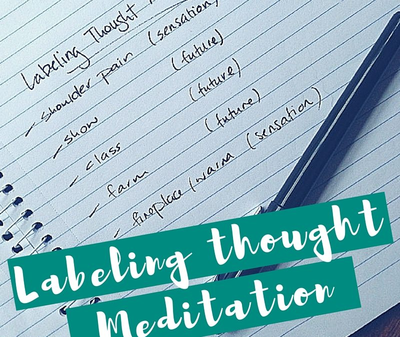 Labelling Thought Meditation Technique